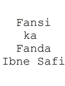 Free Download Fansi ka Fanda Ibne Safi Hindi Novel