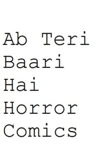 Free Download Ab Teri Baari Hai Hindi Comics Pdf
